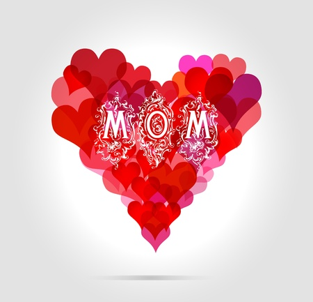 mothers day illustration, vector Stock Vector - 13429650