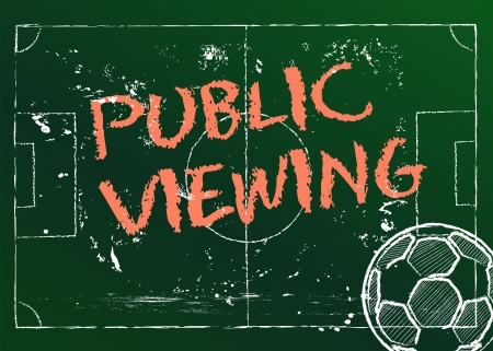 public viewing, vector illustration Vector