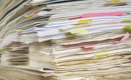disorganization: Files close up