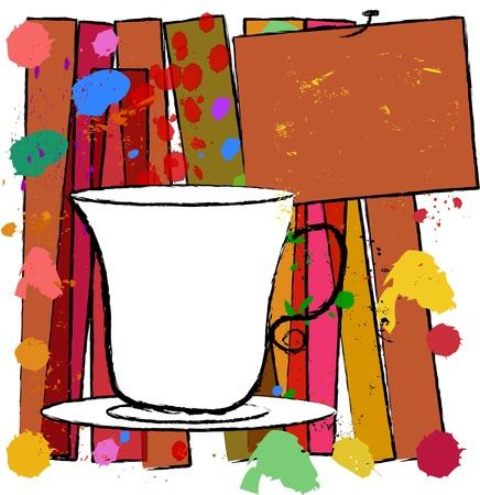 coffee cup vector: coffee cup, free copy space, menu, vector