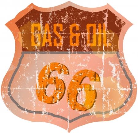 retro badge: Vintage gas station sign,illustration