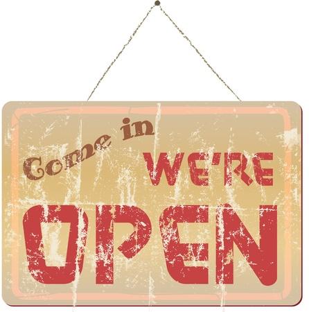 worn sign: signo tienda vintage que vienen en volver a abrir