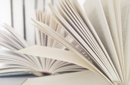 opened books close up