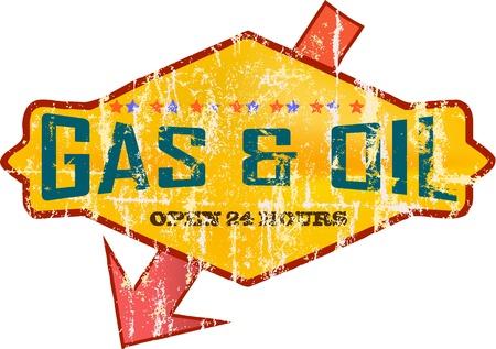 Gas Vintage signo estación