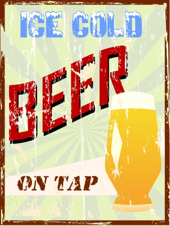 vintage beer sign Vector