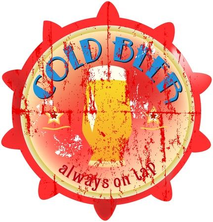vintage beer sign, vector illustration Vector