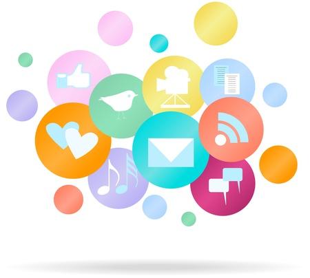 compartiendo: Medios de comunicaci�n social y de la red