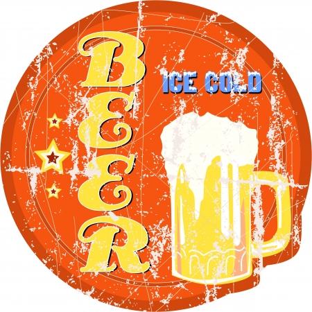 cerveza negra: signo cerveza vintage, ilustración vectorial