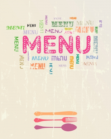 Menu card design template, free copy space Vector