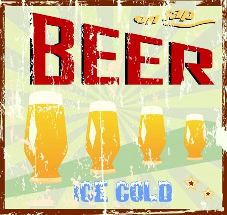 Weinlese-Bier Zeichen Standard-Bild - 15020030