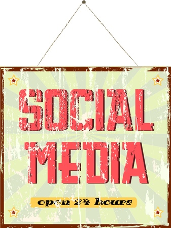 wikis: vintage social media sign