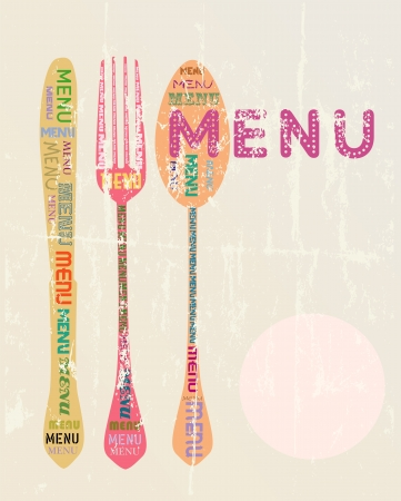 Menu card design template,free copy space Ilustrace