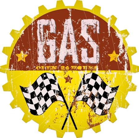 Vintage gas station sign Vector