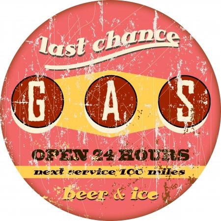 gases: Vintage gas station sign
