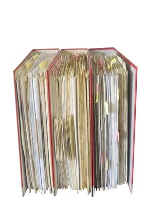 file folders, isolated on white background photo