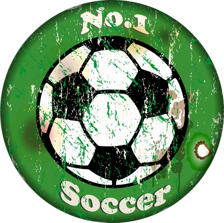 vintage soccer sign Stock Vector - 15595766