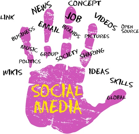Social media and network icon Stock Vector - 15697154