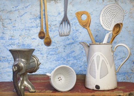 old items: Vintage kitchen utensils