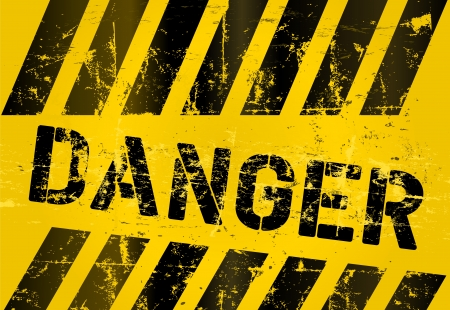 warning: Warnzeichen, verschlissene und Grunge, skalierbare