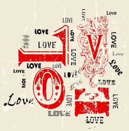 love couples: Love concept, grungy w. paint splatters