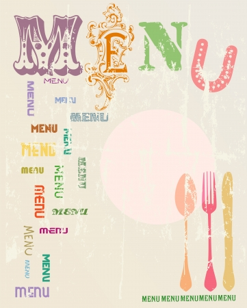 Menu card design template,free copy space Vector