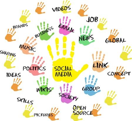 Social media and network design Stock Vector - 16060268