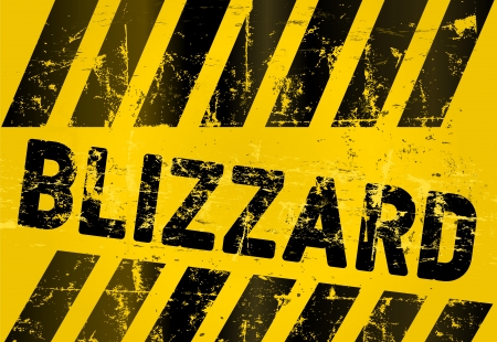 blizzard: Grungy blizzard warning sign, vector illustration