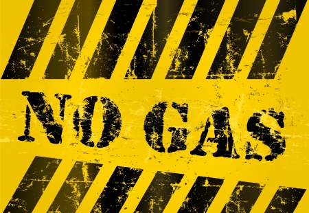 NO GAS warning sign, grungy Stock Vector - 16137529