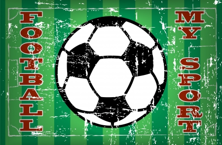 tactical: Vintage enamel football ,sign grungy vector illustration