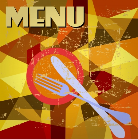 Menu card design,free copy space Vector
