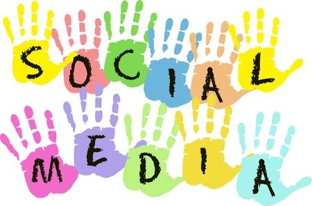 bookmarking: Social media and network design Illustration