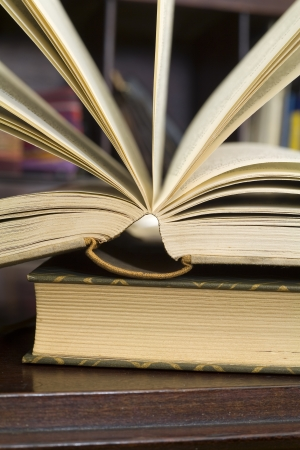 open book, close up photo