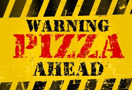 Grungy Pizza Service-Zeichen Standard-Bild - 16569993