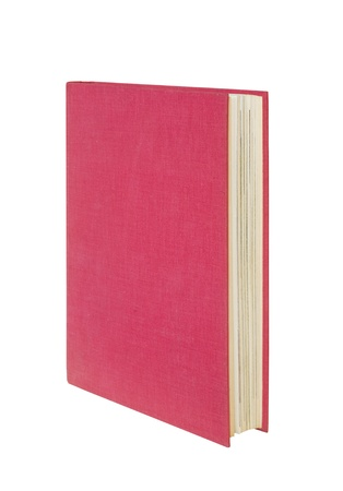 hardcovers: red book isolated, free copy space