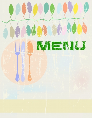 Menu card design template,free copy space, springtime colors Vector