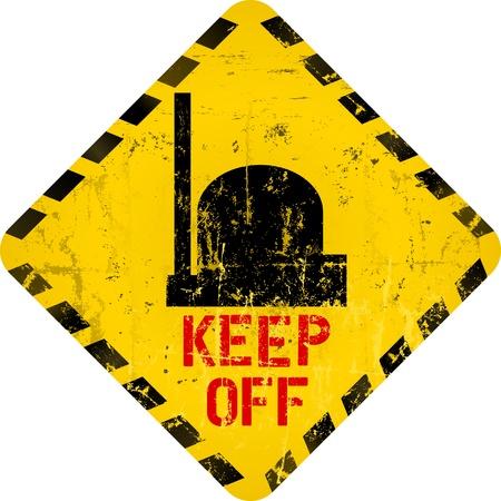 hazardous metals: nuclear warning, grungy radiation sign