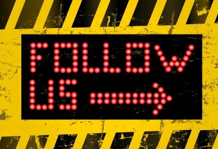 follow sign Stock Vector - 16798091
