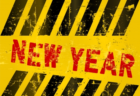 New year sign, grungy  Stock Vector - 16867096