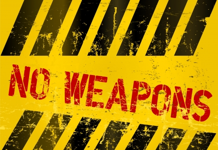 police tape: Warning sign  No weapons