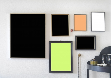 pix: picture frames, free space for pix  copy Stock Photo