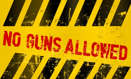 Warning sign no guns allowed Vector