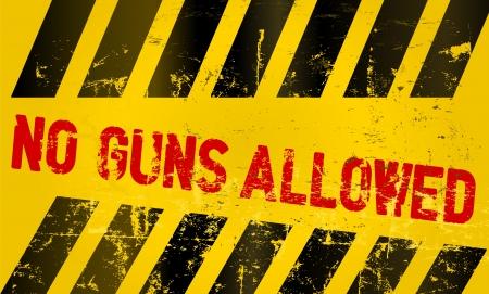 Warning sign no guns allowed Stock Vector - 17092174