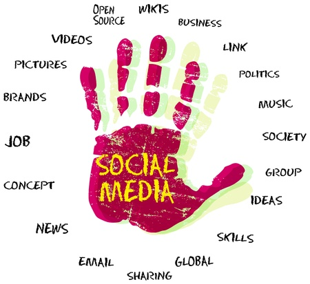 Medios de comunicación social y de la red Ilustración de vector