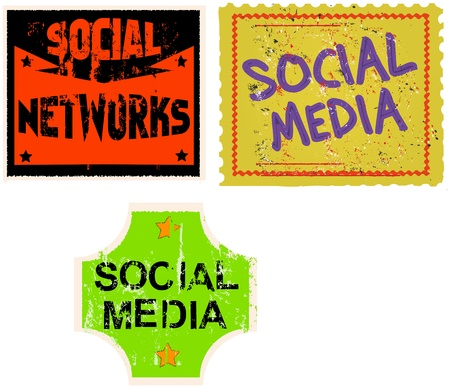 social media   networks sticker, vector illustration Stock Vector - 17130448