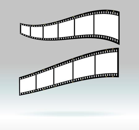 35 mm filmstrips, blank photo frames, free space for your pix Ilustração