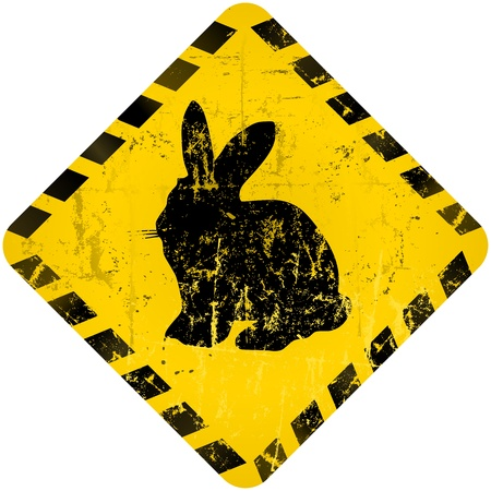 easter bunny warning sign