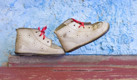 Vintage childs shoes photo