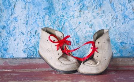 Vintage childs shoes photo