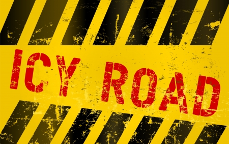 Warning sign icy road Stock Vector - 17559705