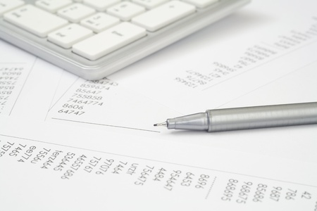 economical: accounting, pen, numbers and keypad